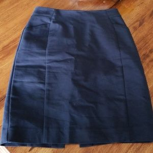 H&M navy pencil skirt